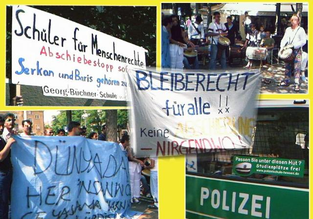 antirassistische Demo in Giessen am 21.06.03